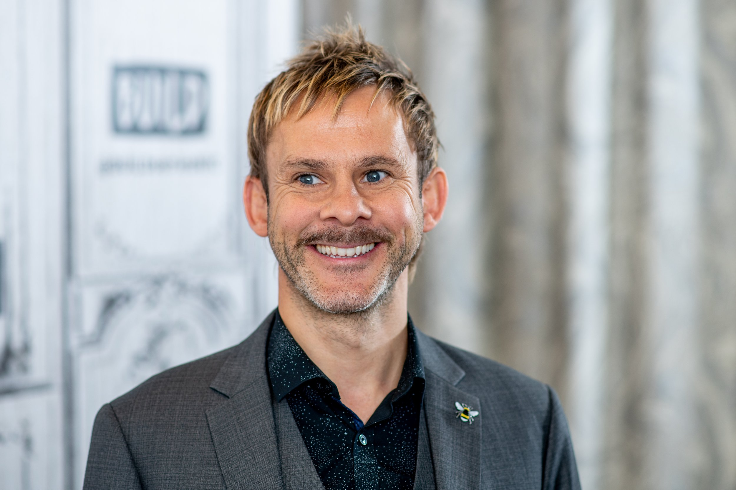 """NEW YORK, NY - MAY 22: Dominic Monaghan discusses """"100 Code"""" with the Build Series at Build Studio on May 22, 2018 in New York City. (Photo by Roy Rochlin/Getty Images)"""