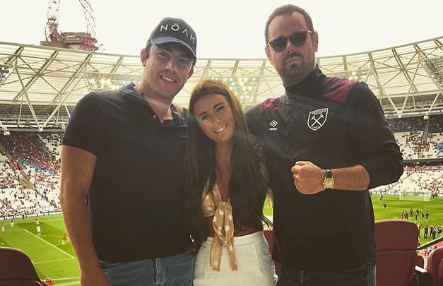 Dani and Jack hang out with Danny Dyer and her granddad Instagram/Jack Fincham