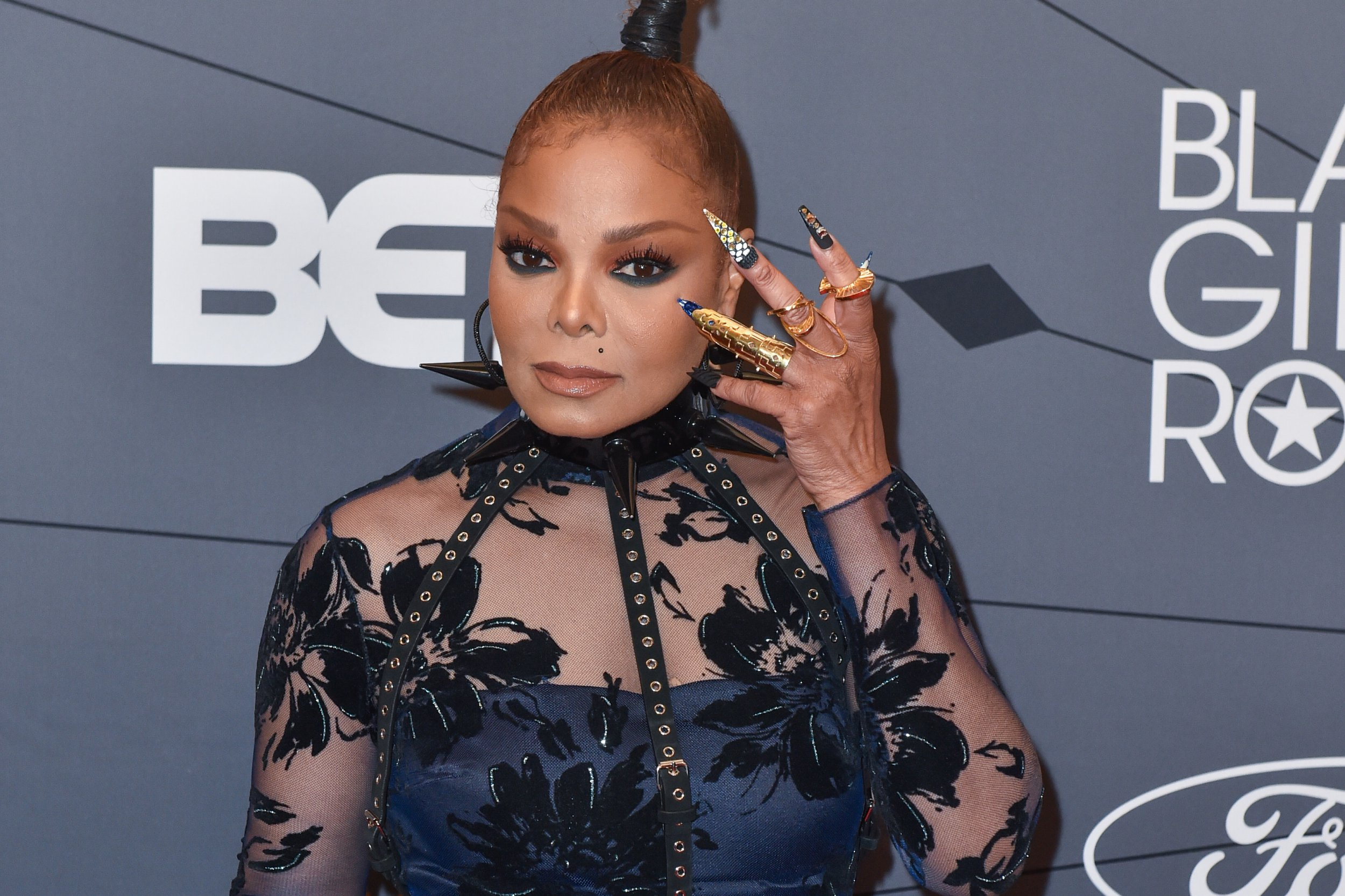NEWARK, NJ - AUGUST 26: Singer Janet Jackson attends the Black Girls Rock! Red Carpet at the New Jersey Performing Arts Center on August 26, 2018 in Newark, New Jersey. (Photo by Aaron J. Thornton/FilmMagic)