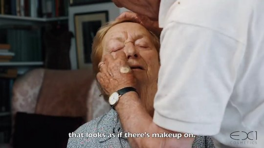 Devoted husband, 84, learns how to apply his 83-year-old wife's make-up before she loses her sight so she can always look and feel her best Mona Monahan, 83, suffers from deteriorating eyesight and will one day be blind Her husband Des, 84, has been learning how to apply her make-up for her.