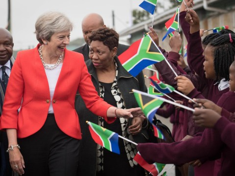 Theresa May arrives in Africa to become world's biggest investor in continent