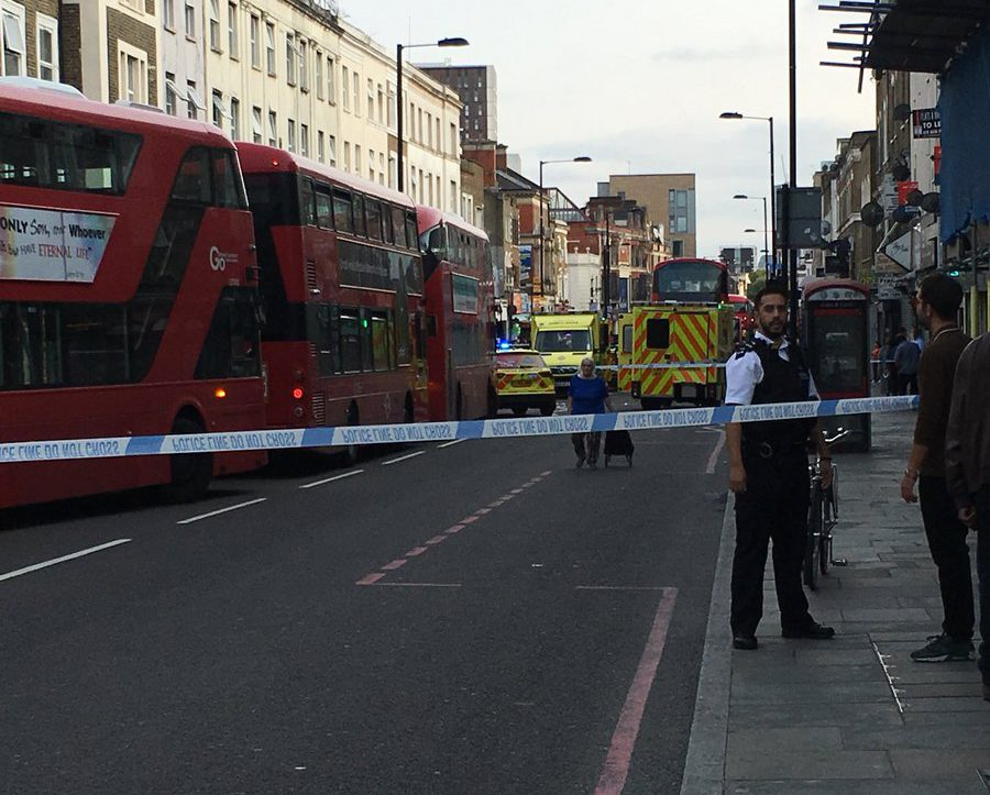 METRO GRAB VIA TWITTER - PREVIEW ONLY Officers from the Roads and Transport Policing Command are appealing for witnesses and information after a woman was left with critical injuries following a collision with a cyclist. On Tuesday, 28 August at approximately 17:07hrs police were called to reports of a pedestrian and cyclist in collision on Kingsland High Street, E8.