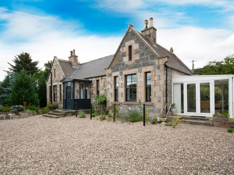 A former train station that's now a two-bedroom house is on the market