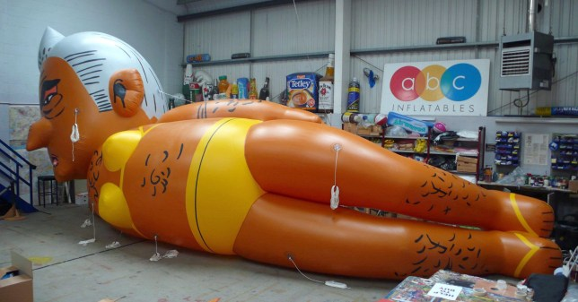 "Undated handout photo of a 29ft blimp depicting London mayor Sadiq Khan in a yellow bikini, which will fly over Parliament Square this weekend, as part of a campaign seeking to remove Mr Khan from his post. PRESS ASSOCIATION Photo. Issue date: Thursday August 30, 2018. Mr Khan appeared relaxed about the stunt, telling ITV London: ""If people want to spend their Saturday looking at me in a yellow bikini they're welcome to do so ??? I don't really think yellow's my colour though."" See PA story POLITICS Khan. Photo credit should read: Yanny Bruere/PA Wire NOTE TO EDITORS: This handout photo may only be used in for editorial reporting purposes for the contemporaneous illustration of events, things or the people in the image or facts mentioned in the caption. Reuse of the picture may require further permission from the copyright holder."
