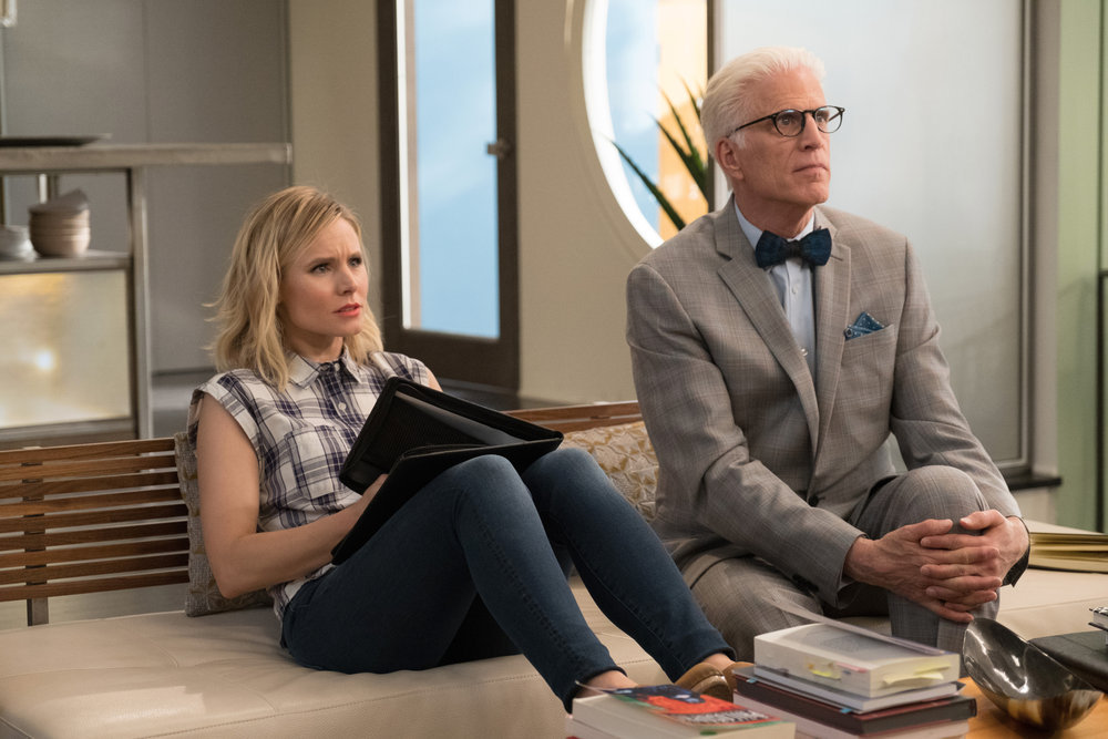 The Good Place creator shares first look at season 3 – teases return to Earth