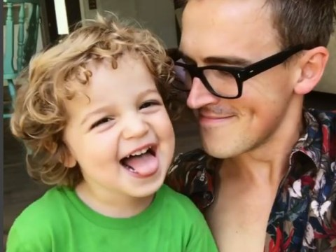 Tom Fletcher's cheeky son Buddy, 2, has revealed his own version of the ABCs
