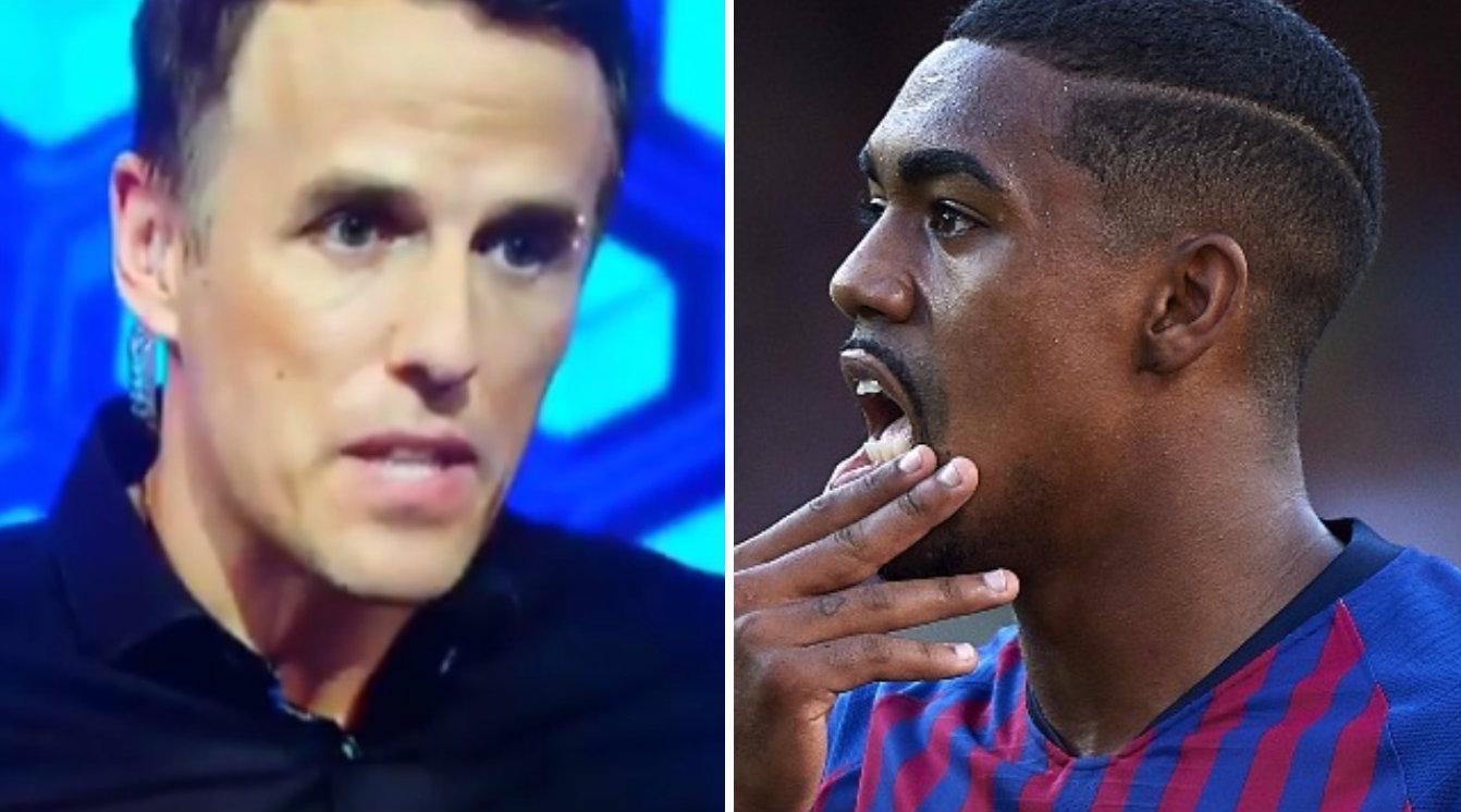 Phil Neville bizarrely claims Everton signed Barcelona star Malcom