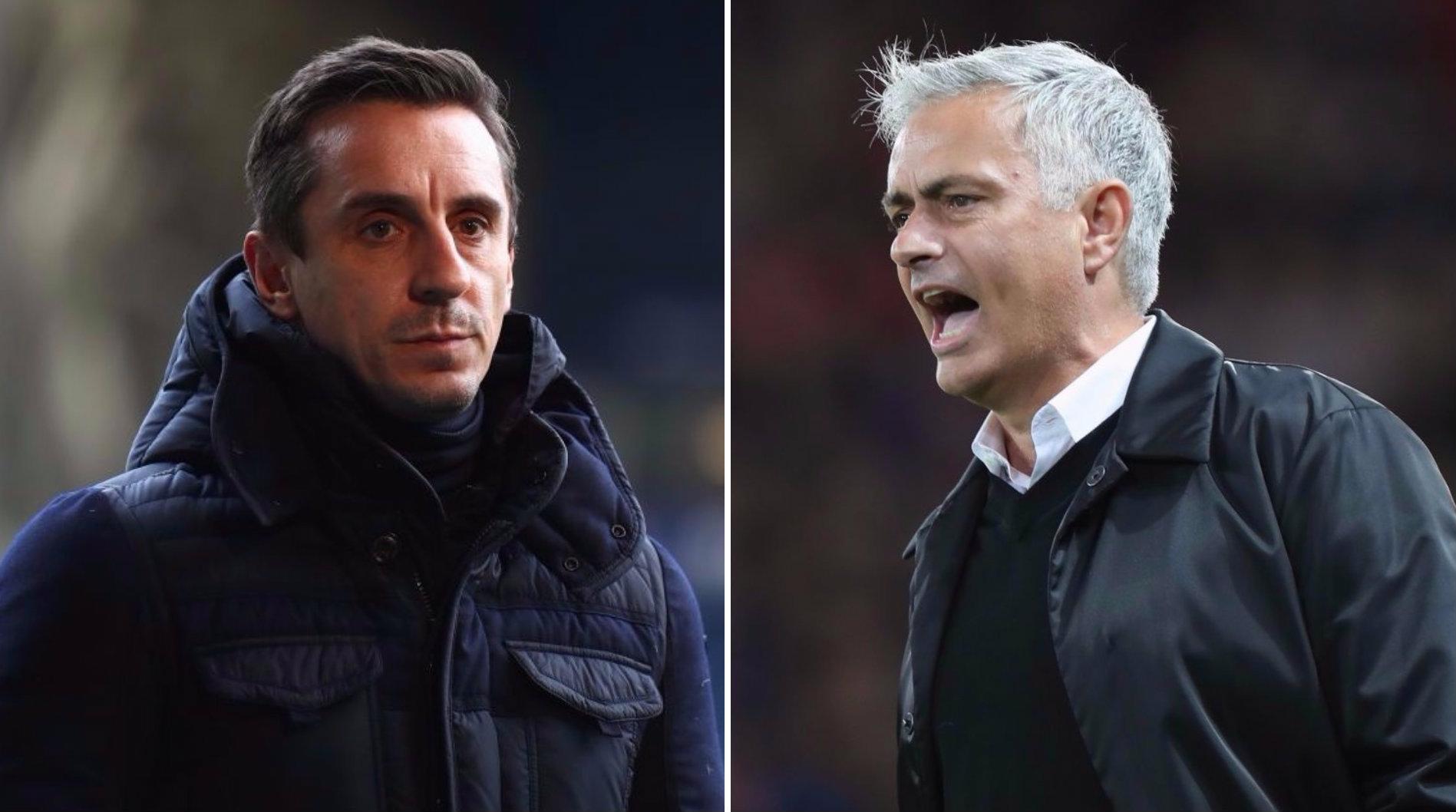 Manchester United should not sack Jose Mourinho, says Gary Neville