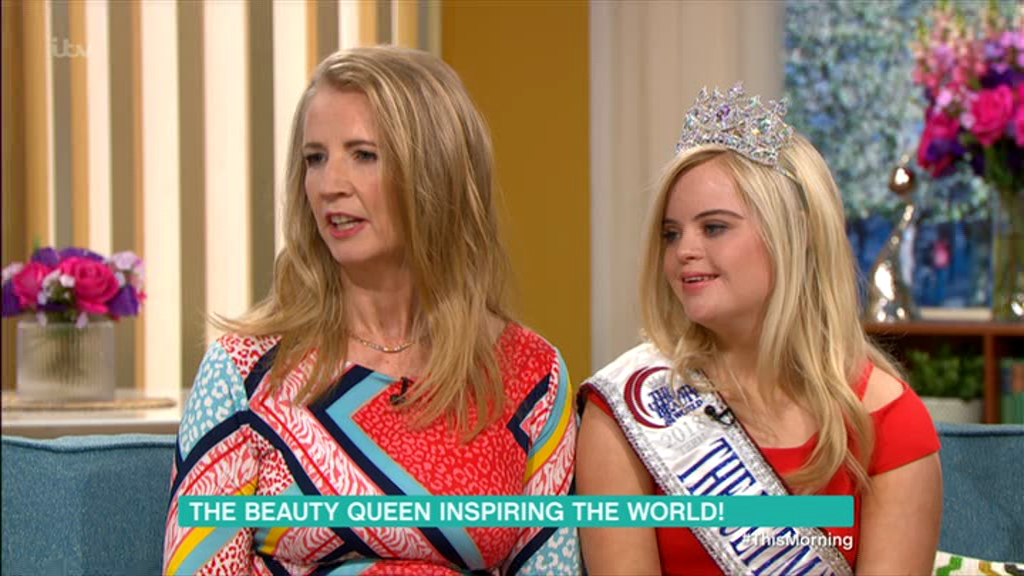 Kate Grant opened up about her pageant win on This Morning (Picture: ITV)
