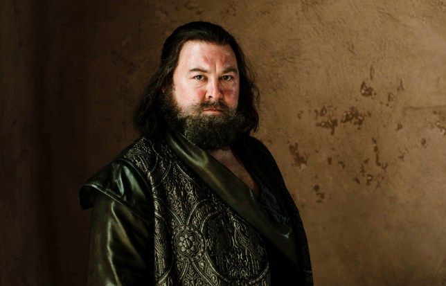 Television Programme: Game Of Thrones with Mark Addy as Robert Baratheon. Mark Addy in Game Of Thrones HBO