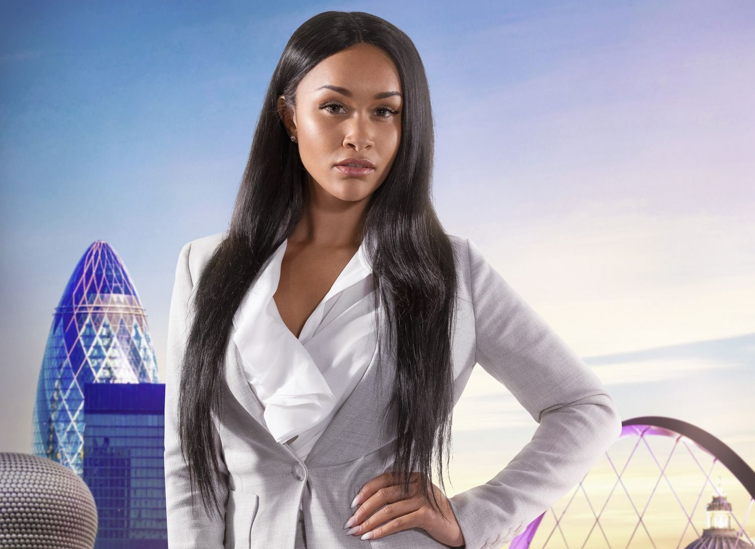 How old is The Apprentice's Sian Gabbidon and what's her swimwear company called?