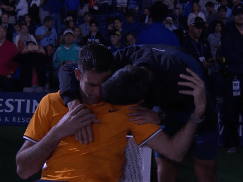 Novak Djokovic comforts tearful Juan Martin del Potro after US Open final defeat