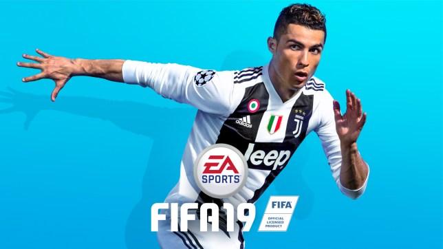FIFA 19 promotional image featuring Cristiano Ronaldo