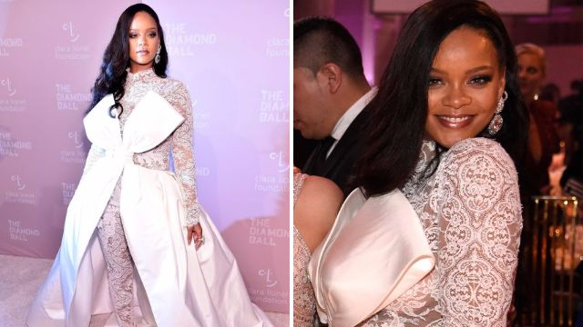 Caption: NEW YORK, NY - SEPTEMBER 13: Rihanna attends her 4th Annual Diamond Ball benefitting The Clara Lionel Foundation at Cipriani Wall Street on September 13, 2018 in New York City. (Photo by Kevin Mazur/Getty Images for Diamond Ball) Photographer: Kevin Mazur Provider: Getty Images for Diamond Ball Source: Getty Images North America Copyright: 2018 Kevin Mazur