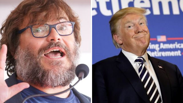 Jack Black brands Donald Trump a 'piece of s**t' as he unveils Walk Of Fame star