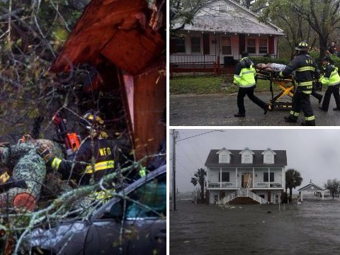 Mother and baby killed as Hurricane Florence sends tree crashing onto their house