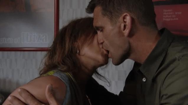 Rainie and Jack kiss in EastEnders