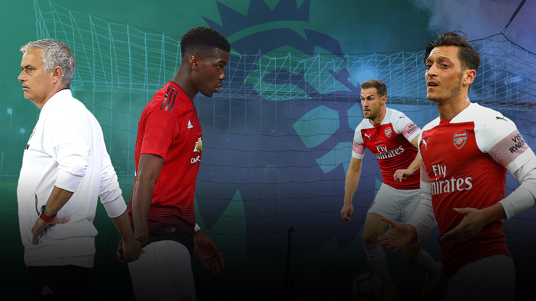 Will Jose Mourinho drop Paul Pogba and has Mesut Ozil won his battle with Aaron Ramsey?