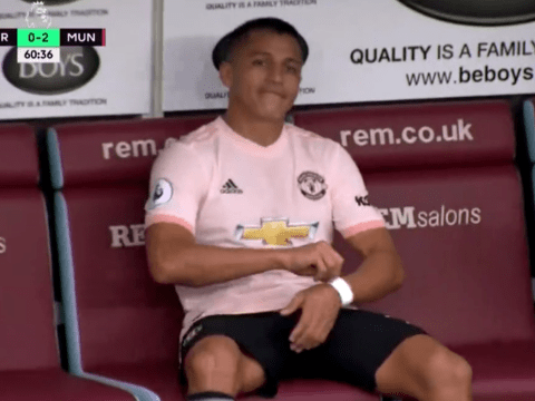 Alexis Sanchez breaks silence after throwing 'tantrum' at Jose Mourinho substitution against Burnley