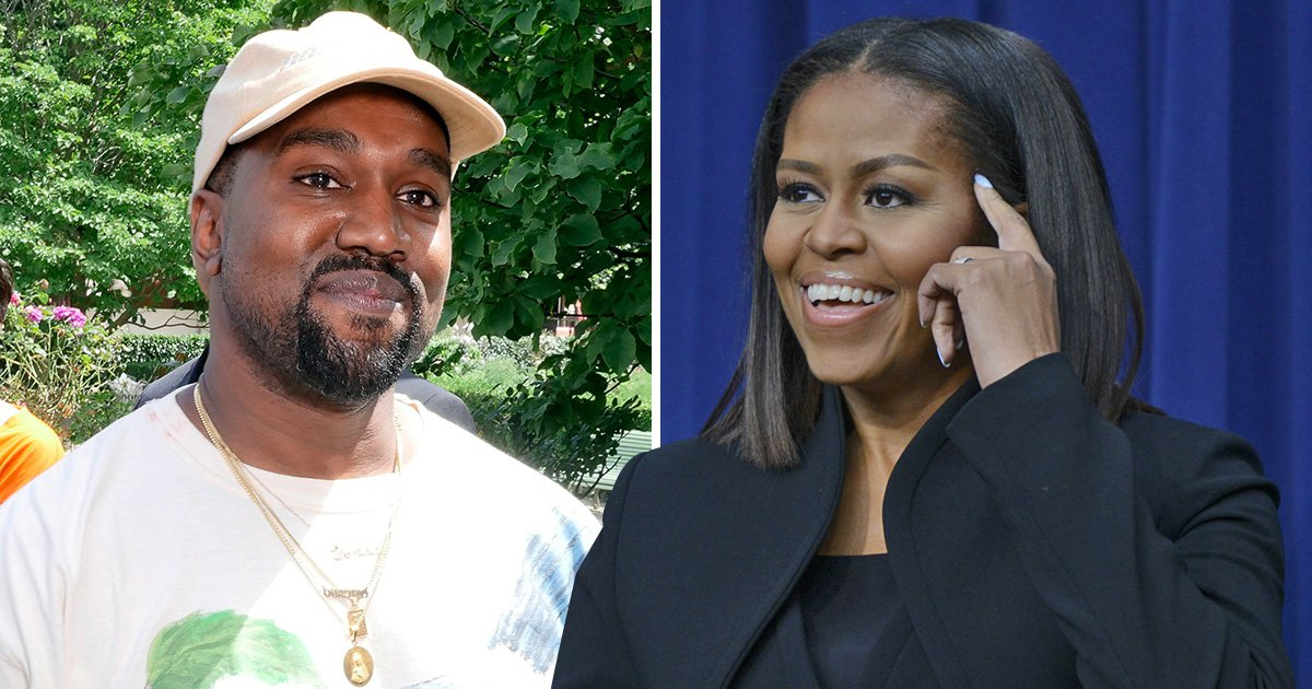 Kanye West gets bear hugged by Michelle Obama in new Childish Gambino video