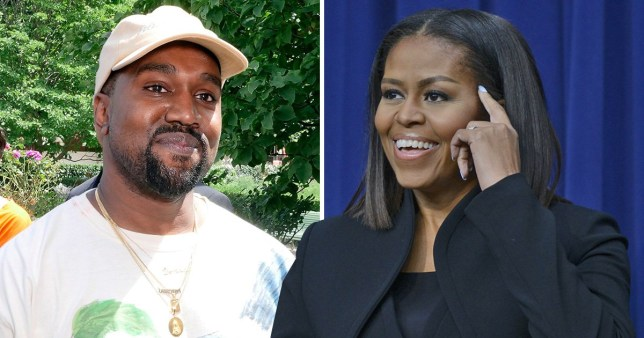 Kanye West hugged by Michelle Obama in new Childish Gambino vid