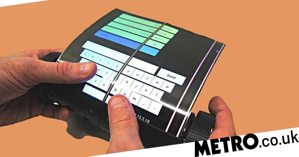 Fantastic The Worlds First Rollable Tablet Pc Looks Like A Magic Download Free Architecture Designs Rallybritishbridgeorg