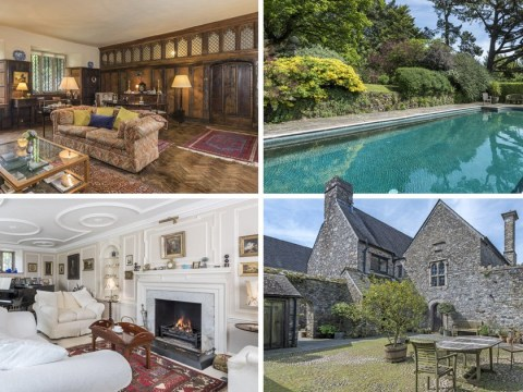 Sir Walter Raleigh's old manor house, which has a pool and its own lake, is on sale for £2 million