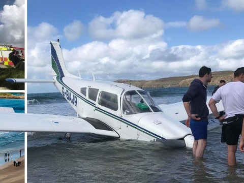 Pilot pulled from wreckage as plane crashes into sea in Wales