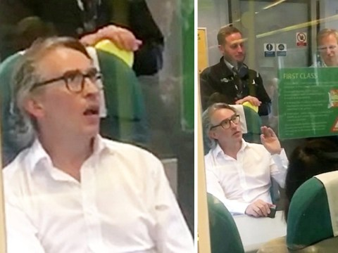 Steve Coogan stands up for passengers kicked out of first class on packed train