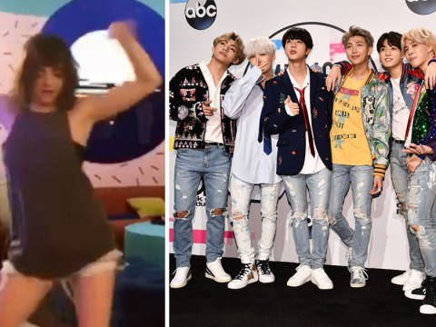 Maisie Williams has serious rhythm as she smashes the BTS IDOL Challenge