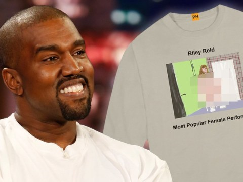 Kanye West celebrates top female adult performers on sweatshirt collection as he directs the Pornhub Awards