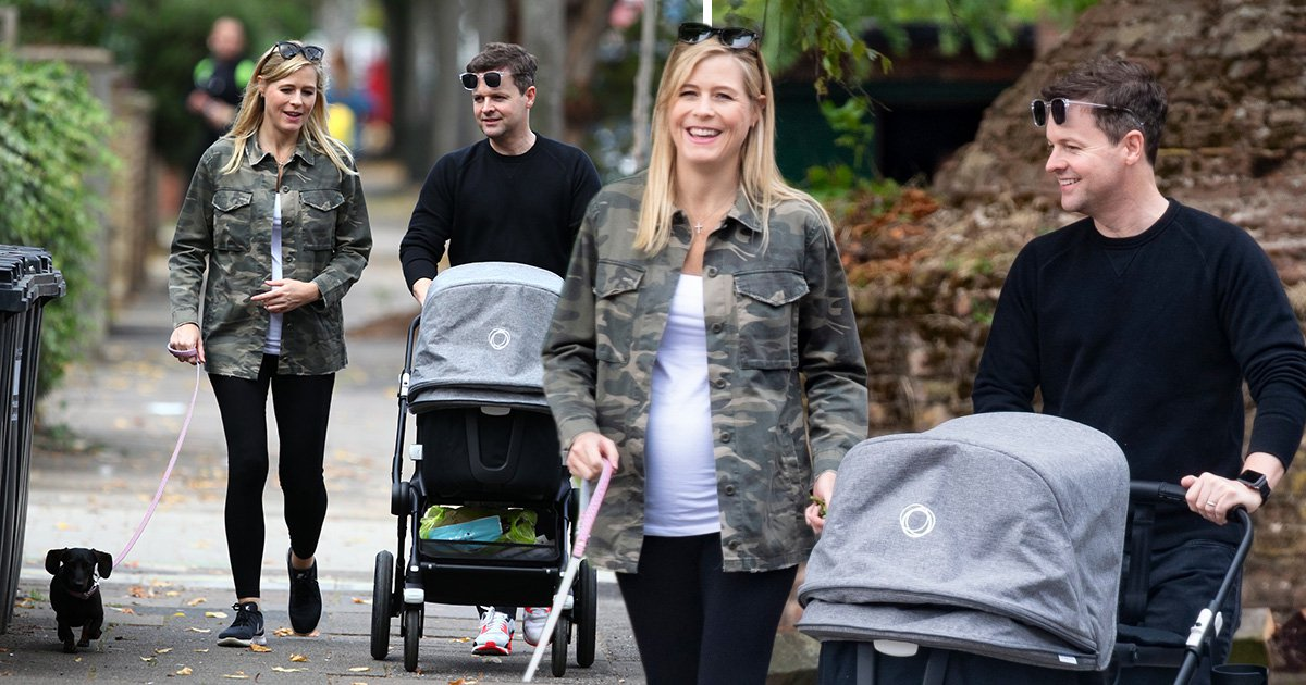 Declan Donnelly is one proud dad as he takes baby daughter for a stroll with Ali Astall