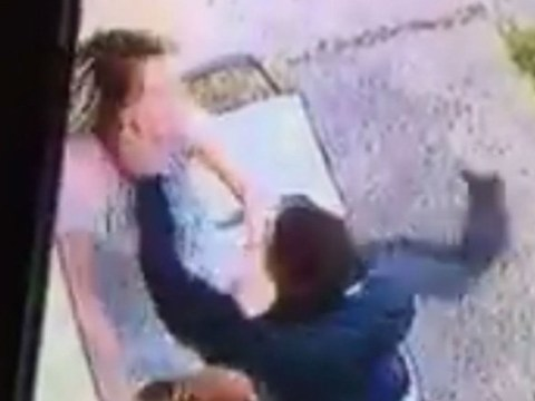 Mum repeatedly punched in the head by a stranger 'lucky not to break her jaw'