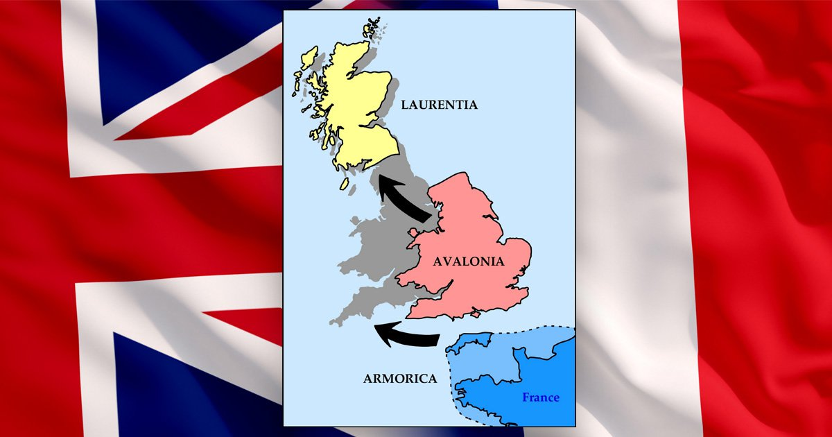 Britain is formed from three continents including a huge chunk of France, scientists claim
