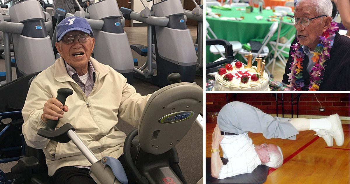 111-year-old man still hits the gym every day
