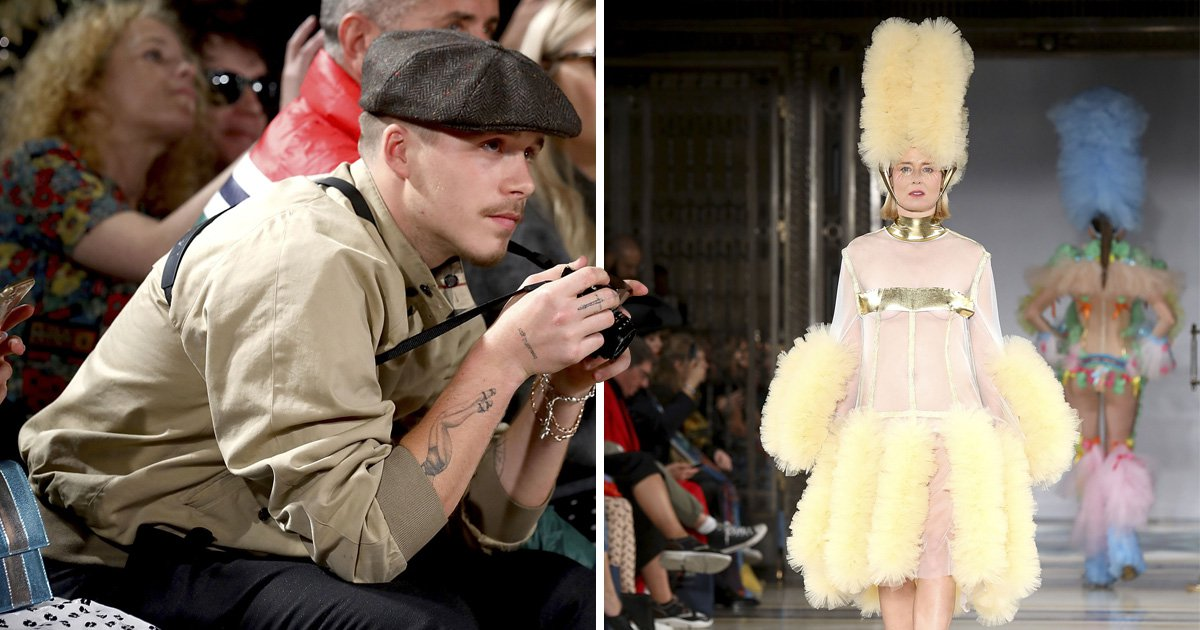 Brooklyn Beckham earns his keep on the FROW as he whips out camera at Pam Hogg runway