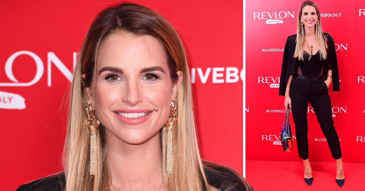 Nothing will keep Vogue Williams from a red carpet as she makes first public appearance two weeks after giving birth