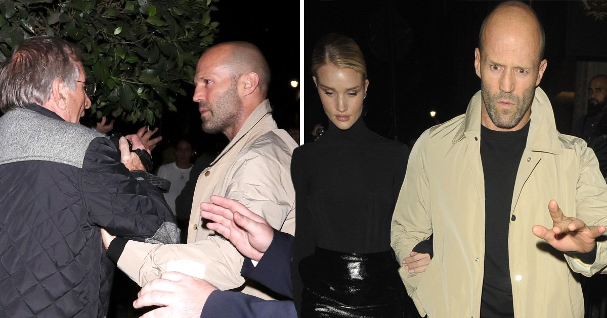 Jason Statham gets heated on date night with Rosie Huntington-Whiteley
