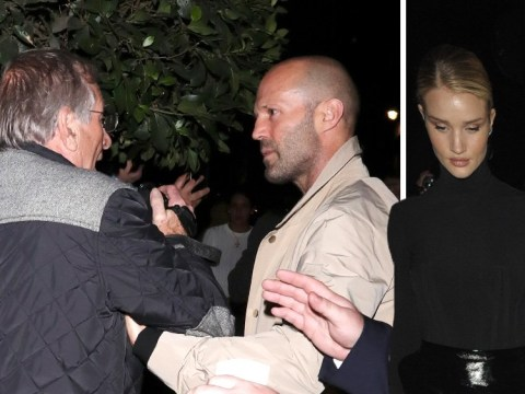 Jason Statham gets heated on date night with Rosie Huntington-Whiteley