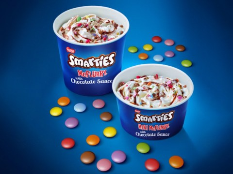 Good news, people: Smarties McFlurries are back on the McDonald's menu