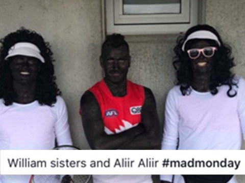 Footballers blacked up to mimic Venus and Serena Williams at party