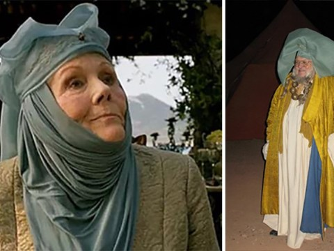 Game of Thrones fans are absolutely loving George R.R. Martin dressed as Olenna Tyrell in resurfaced photo