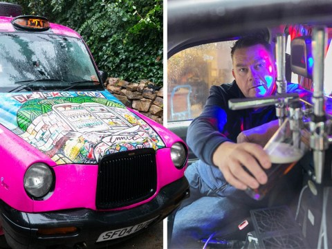 Take a ride in a pink taxi pub run by the former drummer of Pulp