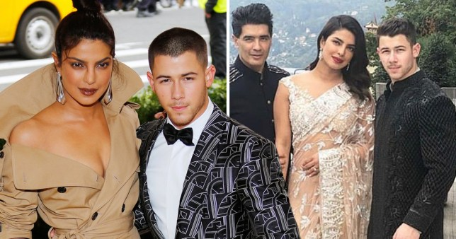 a14d5762fc Priyanka Chopra and Nick Jonas are picture perfect in traditional Indian  dress at engagement party