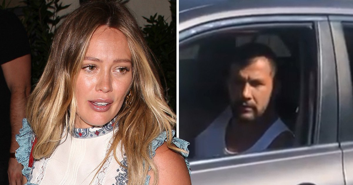 Hilary Duff confronts paparazzi for 'hunting' her while out with her son at 9 months pregnant