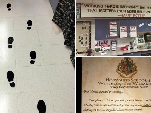 Harry Potter loving teacher transforms her classroom into Hogwarts
