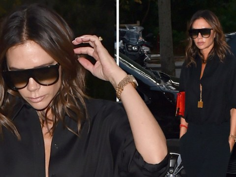 Victoria Beckham is the stylish gift that keeps on giving at Paris Fashion Week