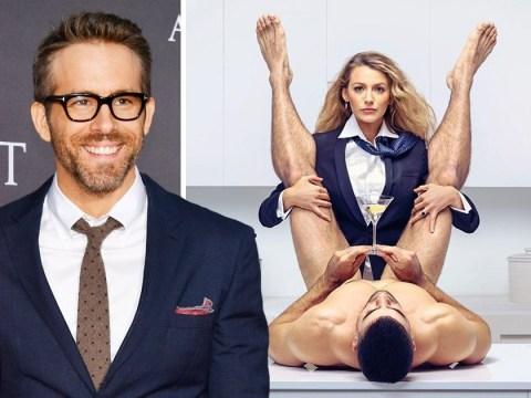 Ryan Reynolds trolls Blake Lively as she gets straddled by a naked male model