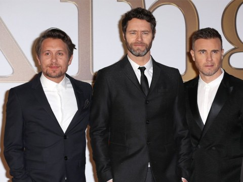 Take That unite with Bee Gees star Barry Gibb for 30th anniversary