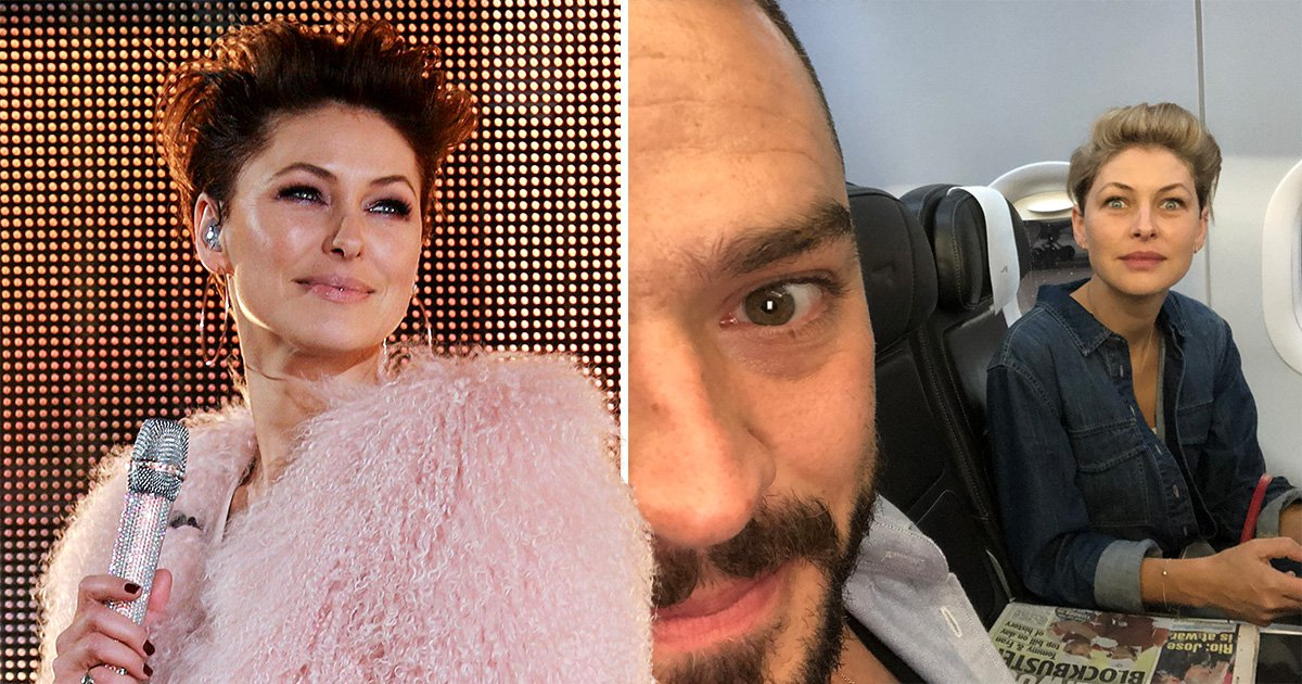 Emma Willis works hard and plays hard as she takes off from Big Brother to chill with Matt